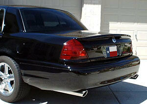 Ford Crown Victoria 1998-2011 Custom Post Mount Painted Rear Spoiler