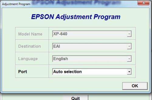 Reset Epson Xp640