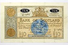1963 Bank of Scotland Ten Pounds VF+ ~ SC133 / P93c ~ Scarce £10 Note