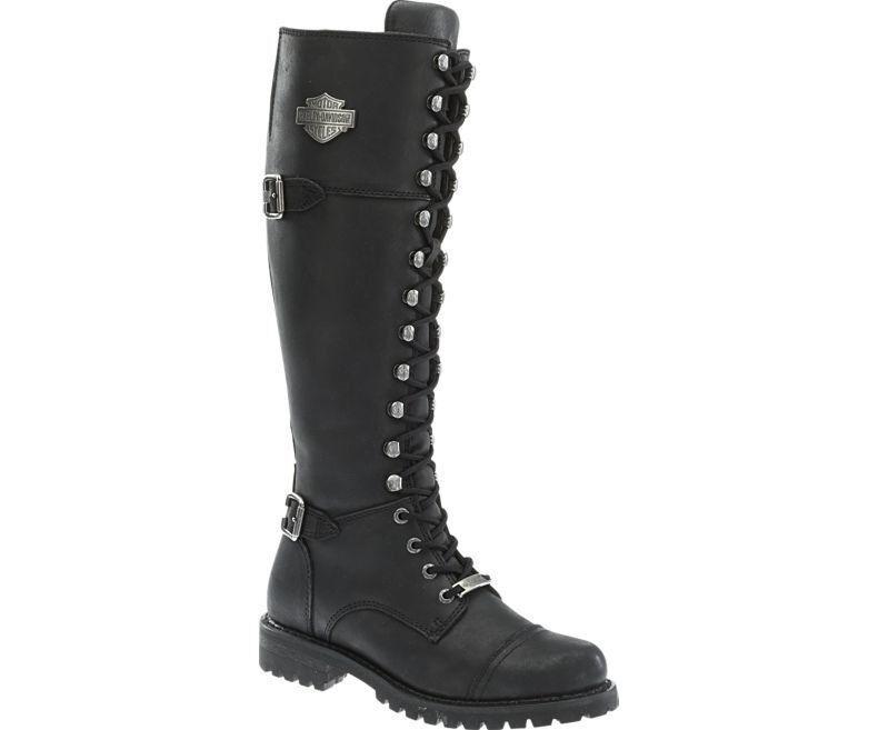 Women's Harley Davidson Beechwood Beechwood Beechwood Full-Grain Leather Upper Boots Black D83856 2fc09f