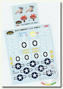 IsraDecal Decals for 1/72 B-24 Liberators Zodiacs Libra &Gemini Part II