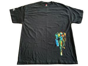 RARE-VINTAGE-TEE-Metroid-Prime-3-Corruption-Nintendo-Wii-Size-XL-Promo-Shirt-NOS