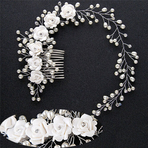 Luxury Wedding Hair Jewelry For Bridal Pearl HairComb Hand Made Hair AccessoryPT