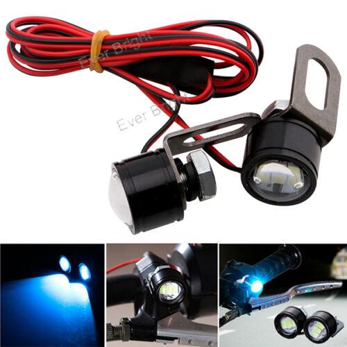 2x Ice Blue Strobe 5630 3SMD LED Motorcycle Headlight Fog Daytime Running Light