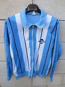 Détails sur VINTAGE Veste sport JOINVILLE FRANCE bleu ciel blanc années 80 tracktop jacket M