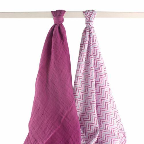 2-Pack Purple Lotus Yoga Sprout Girl Muslin Swaddle Blanket