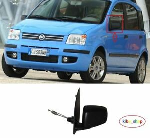 Fiat Panda 2003-2009 Door Mirror Manual Cable Black N//S Passenger Left