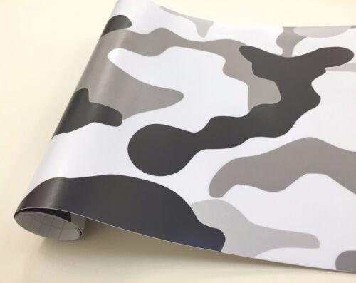 "Camouflage Camo Urban Snow 72/"" x 60/"" Vinyl Printed Graphic Car Wrap Film Sheet"
