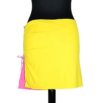 La Perla Studio Jupe Bi-colore Danielle Tressée 46it Stretch 42fr Jaune Rose Materiale Selezionato