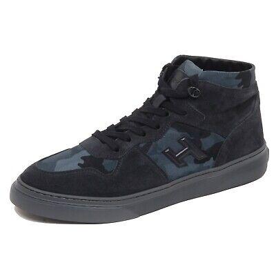 F7202 sneaker uomo blu/camouflage HOGAN H365 grey sole tissue/suede shoe man | eBay