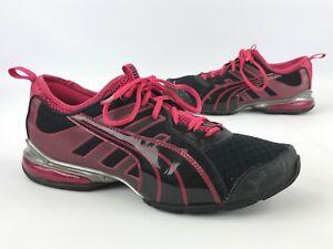 1c4a328010e6 PUMA Women s Voltaic 4 Fade Running Shoes Black   Pink Size 8.5