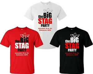Details about The Big Stag Party Custom T-Shirts - Men's TBBT Personalised  Funny Stag Do Tops