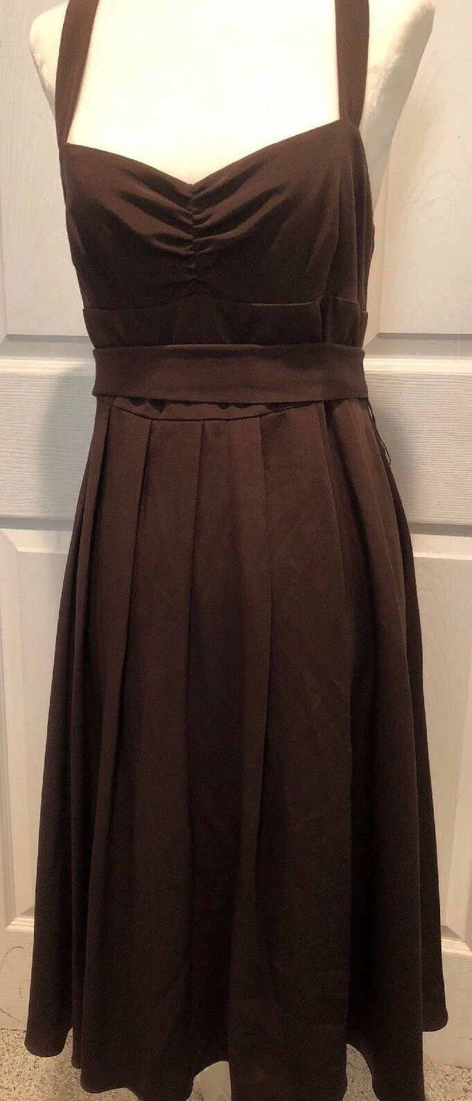 NEW J Crew Silk Tricotine Special Occasion Rebecca Dress Sz 6 Expresso 90745 NWT
