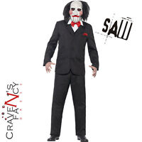 Adult Saw Jigsaw Puppet Costume Licensed Mens Halloween Fancy Dress New