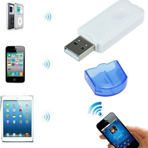 USB Bluetooth Stereo Audio Music Wireless Receiver Adapter For Home Car Speaker