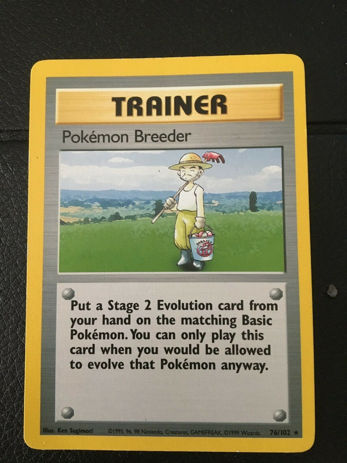 Pokemon Trainer   First Edition, Base Set Breeder Card, Mint Condition, 1999