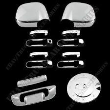 Tailgate Gas Door Combo Fit 02-08 Dodge RAM Chrome 4 Door Handle Mirror Cover