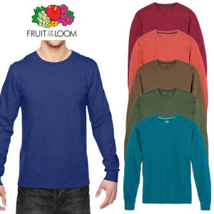 Fruit-of-the-Loom-Men-039-s-Long-Sleeve-Crew-Neck-T-Shirt