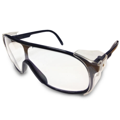 JSP ILES Mirage Safety Spectacles with Clear Lens and Navy Blue Frame