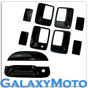 99-07-Ford-Super-Duty-Gloss-Black-4-Door-Handle-w-o-PSG-Keyhole-Tailgate-Cover