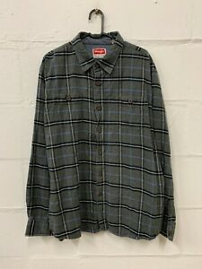 Wrangler-Premium-Quality-Flannel-Button-Down-Long-Sleeve-Shirt-Size-Small-S