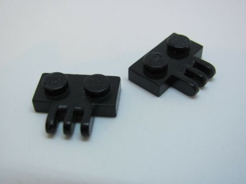 x2 Black - 6280 6285 6286 6987 LEGO 2452 @@ Hinge 1 x 2-3 Fingers On Side