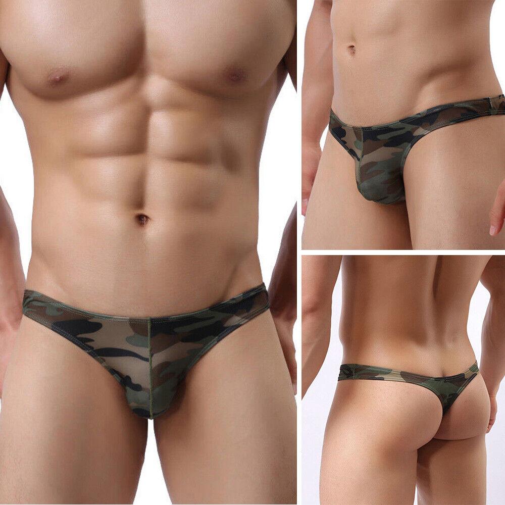 s l1600 - Ropa Interior Calzoncillos Tangas Bikini Estándar Sexy Camuflaje Poliéster