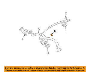 image is loading bmw-oem-01-06-325ci-rear-seat-belt-