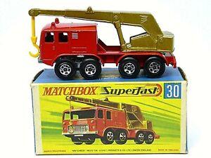 Matchbox-Lesney-No-30c-Fauno-8-ruedas-de-grua-en-tipo-039-G2-039-Caja-con-034-nuevo-034-raro