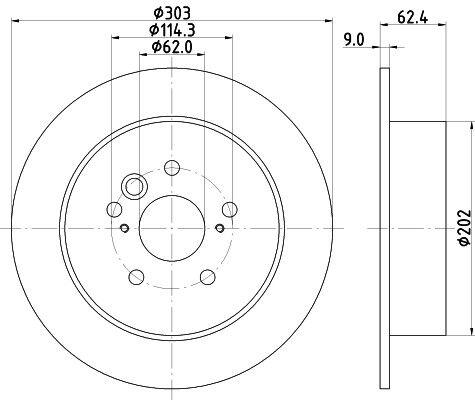 2000-05 OE 4243142040 Pair Toyota RAV 4 MK 2 Rear Brake Discs
