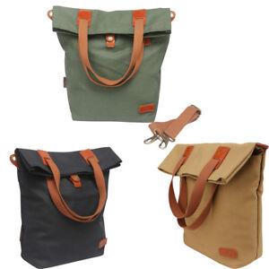 Tourbon-Bike-Shoulder-Pack-Bag-Saddle-Carry-Canvas-Case-Cycling-Pannier-3-Colors