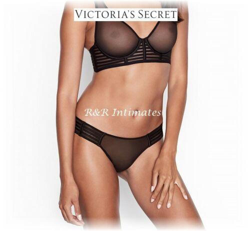399344 Black Victoria/'s Secret Luxe Lingerie Mesh Cheekini Small