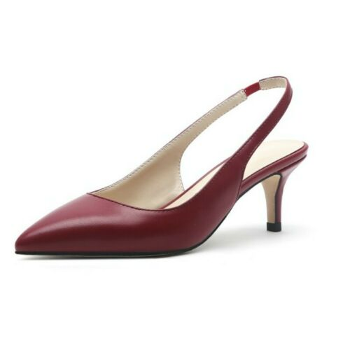 Details about  /Stylish Womens Closed Pointy Toe Sandals Slingbacks Banquet Prom Shoes Pumps D