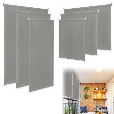 Grau Außenrollo UV-Schutz Terrasse Sichtschutz Senkrechtmarkise Verdunkelung