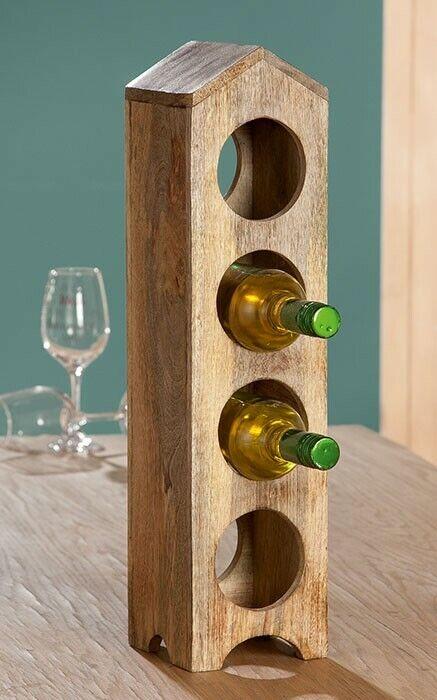 presa di marca Parte Parte Parte di Gilde legno Bottiglie Supporto Bottiglie di Vino Supporto Supporto in Legno Casa Forma B 13,5 X H 55  rivenditori online