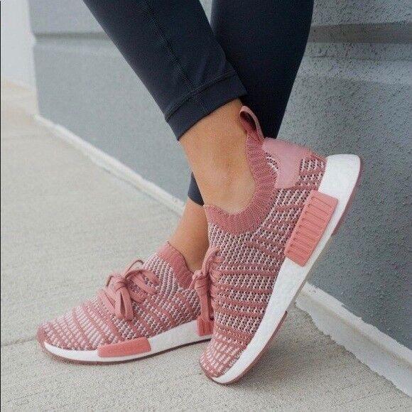 Adidas Originals NMD R1 STLT Primeknit női (6 - 10) hamu rózsaszínű CQ2028