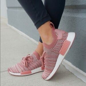 1331877ff2819 Adidas Originals NMD R1 STLT Primeknit Women s (8 - 11) Ash Pink ...