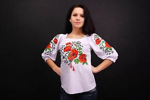 Ukrainian-embroidered-sorochka-women-039-s-blouse-vyshyvanka-embroidery-Size-XXL