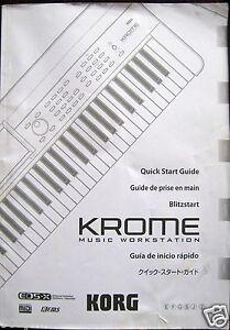 korg krome music workstation original quick start guide owner s rh ebay com korg krome manual portugues korg krome manuale italiano