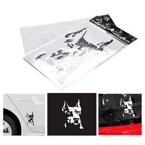 2pcs-Doberman-Pinscher-perro-pegatina-reflexivo-coche-moto-pegatina-calcoma-QA