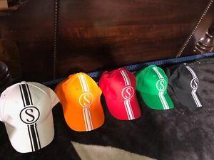 Schwinn-Grey-Ghost-Orange-Pea-Cotton-Apple-Baseball-Cap-Bicycle-Hats-metal-tag