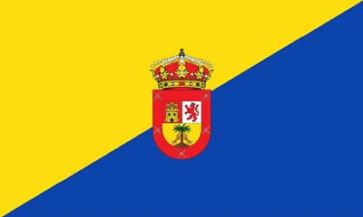 Gran Canaria 5ft x 3ft Flag Canary Island Canaries Spanish Islands 2 Eyelets
