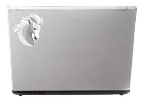 2 x 10cm abstrait cheval vinyle autocollant ordinateur portable tablette voiture enfants animal poney #6676