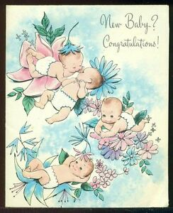 Vintage new baby greeting card new baby congratulations babies image is loading vintage new baby greeting card new baby congratulations m4hsunfo