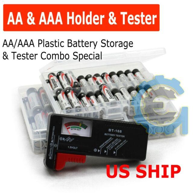 New AA//AAA//C//D//9V Universal Button Cell Batteries Battery Volt Checker Tester