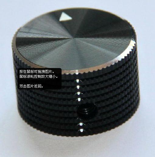 2*25x15.5 Solid Aluminum Knob Black 6mm Shaft Pointer Volume Audio Amplifier DVD