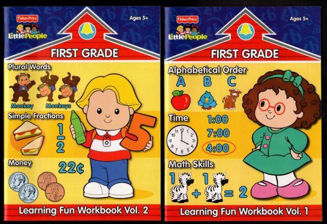 Fisher Workbook Little People Vol 1 First Grade English Math School