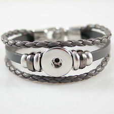 Genuine Snap It Leather Bracelet For Snaps Size 7 1/2
