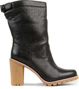 7 pierna botas Reino cuero Rrp Australia negras 40 de de tacón 5 media Eu de Unido Coralie Ugg® xg0OWn1qwW