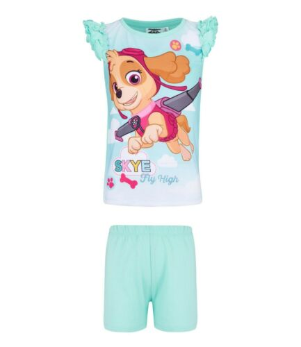Filles Paw Patrol Nuisette Nighty Chemise De Nuit Pyjamas Pyjama T-shirt Court Lot Âge 2-8